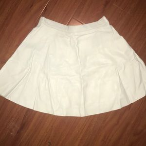 White leather circle skirt